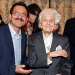 Antonino La Manna con Rita Levi Montalcini - Accademia dei 2 mari